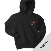 PC90YH - A114E009 - EMB - Youth Pullover Hoodie